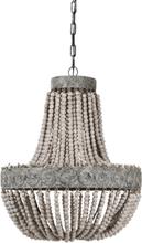 Kullampa Signum taklampa - (ljusa träkulor)