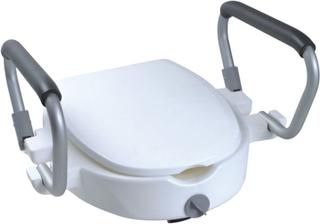 Parcura hævet toiletsæde med armlæn 120 kg hvid 84841