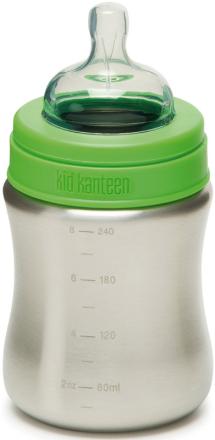 Klean Kanteen Kid Kanteen Baby Bottle juomapullo Medium Flow 267ml , vihreä/hopea 2019 Juomapullot