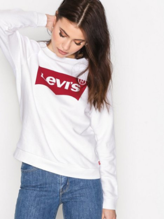 Levis Relaxed Graphic Crew Sweatshirts Vit