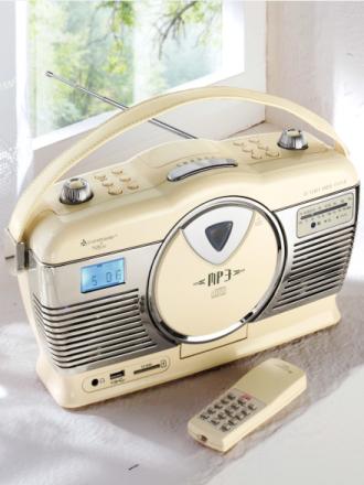 Retroradio Soundmaster vanilje