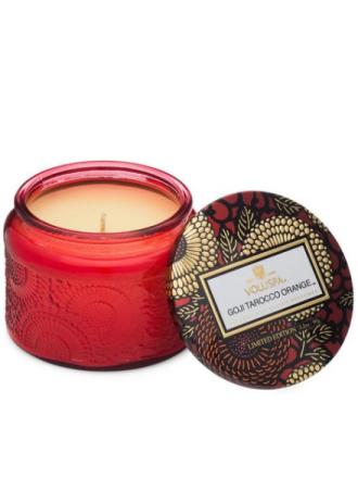 Voluspa Goji & Tarocco Orange Glass Jar Candle Hvit