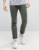 Religion Biker Jeans with Ripped Biker Knee Detail