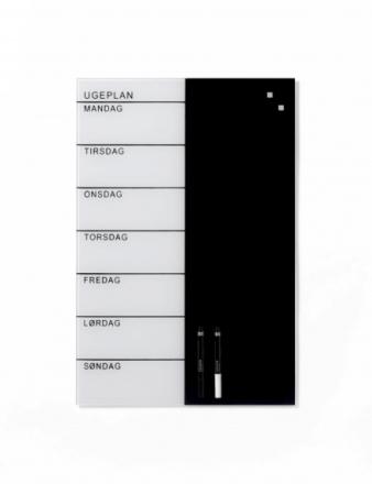 Glastavle Naga magnetisk 40 x 60 cm ugeplanner