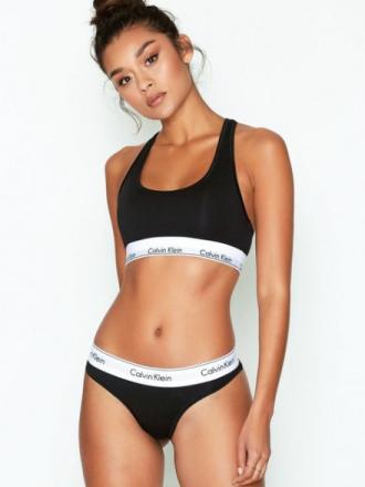 Calvin Klein Underwear Modern Cotton Thong Musta