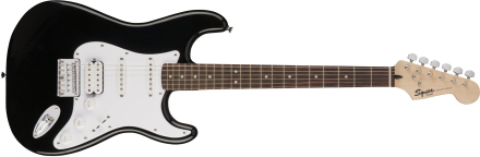 Squier By Fender - Bullet HSS Hardtail Stratocaster - Electic Guitar (Black)