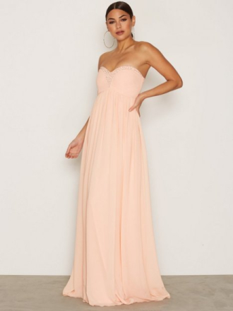NLY Eve Sparkle Dream Gown Maxiklänningar Peach