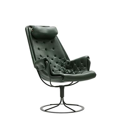 Jetson stol limited edition, mørk grønn lær