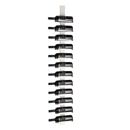 Mazzi Vinställ vitlackerad/slipat stål 12 flaskor vägg