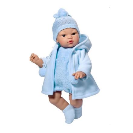 Así dukke Koke i lyseblå frakke - 36 cm - LykkeLeg