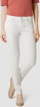 SELECTED Mid Waist - Slim Fit Jeans Women White