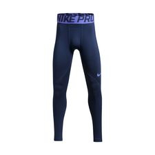 Nike Pro Warm Tights - Navy/Lilla Børn