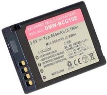 DMW-BCG10PP for Panasonic, 3.6V (3.7V), 860 mAh
