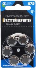 Høreapparatbatteri A675/DA675/PR44 6stk/pk.
