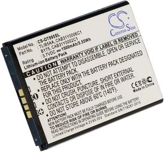 CAB31Y0006C1 for Alcatel, 3.7V (3.6V), 1500 mAh