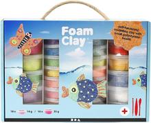 Foam Clay® Set -helmimasasetti, 1 set, värilajitelma