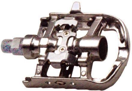 M-Wave Kombipedaler Silver, SPD kombi, 486gr. per set