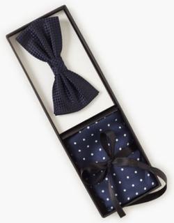Amanda Christensen Pre Tie & Pocket Butterfly Navy