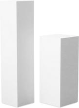 Piedestal LineDesign wood 60 cm - Vit