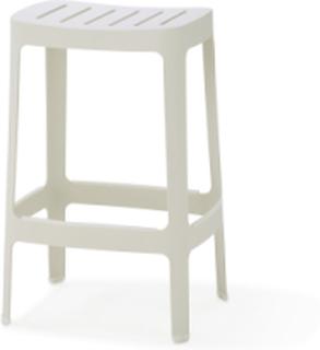 Cut barstol Vit Låg