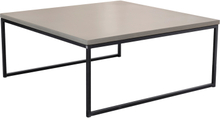 Mystic soffbord Betong/svart halvkub 90x90 cm