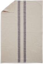 Stripes kökshandduk Cream/dark blue 50x100 cm