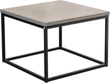 Mystic soffbord Betong/svart kub 50x50 cm