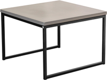 Mystic soffbord Betong/svart halvkub 60x60 cm