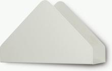 Kuvert hylla Silver white