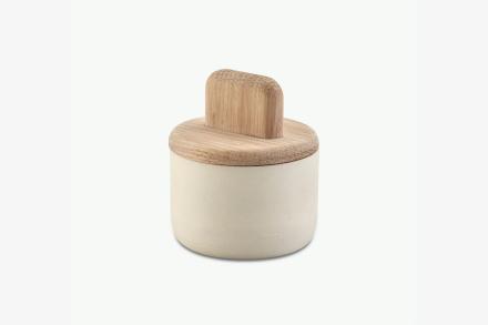Paddle saltkar Oak/cheramic