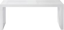 Rib bänk Vit 104x35 cm