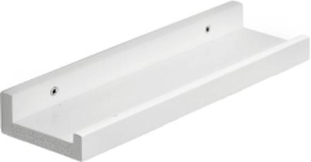 Zitti tavelhylla Vitlack 30x10 cm