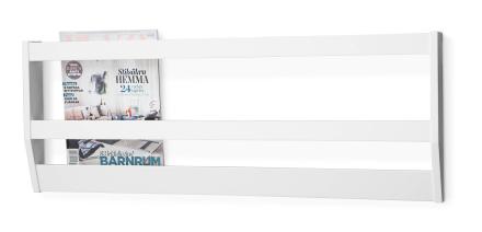 Klinte tidningshylla Vitlack 90x6 cm