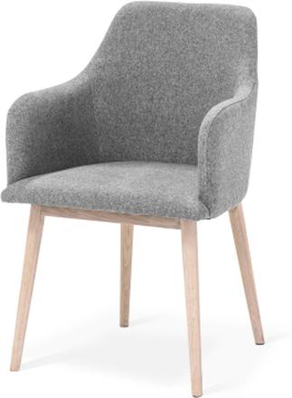 My stol Vitoljad ek/ljusgrå