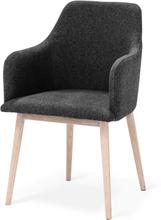 My stol Vitoljad ek/mörkgrå