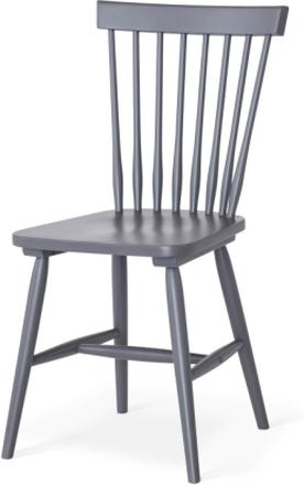 Birka stol Grålackad massiv björk