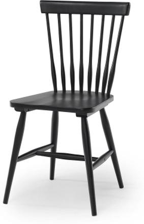Birka stol Svartlackad massiv björk