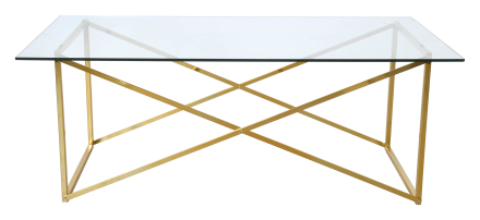 Cross soffbord Blank mässing 120x65 cm