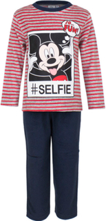Rød og Grå Mikke Mus Velur Pyjamas til Barn