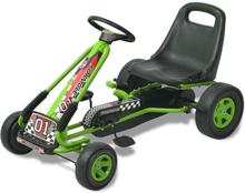 vidaXL Gokart med pedal och justerbart säte grön