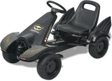 vidaXL gokart med pedaler med justerbart sæde i sort