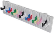 vidaXL Klädhängare för vägg med pianodesign, inkl. 16 färgglada krokar