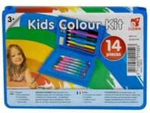 Kinder kleurkoffer 14-delig