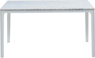 Plate Table 70x70, Laminat - Vit, Ben - Vit