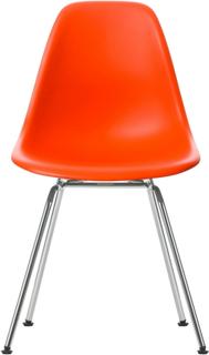 Eames Plastic Chair - DSX Ej klädd, Sits - Poppy Red, Ben - Krom