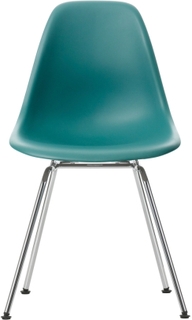 Eames Plastic Chair - DSX Ej klädd, Sits - Ocean, Ben - Krom