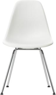 Eames Plastic Chair - DSX Ej klädd, Sits - White, Ben - Krom
