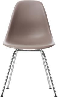 Eames Plastic Chair - DSX Ej klädd, Sits - Mauve Grey, Ben - Krom