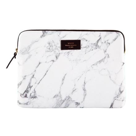 "Laptopfodral"" - White Marble"