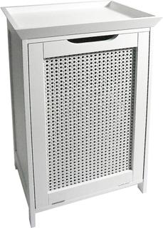 Väv - Golv Tvättstuga Skåp / Linen Bin - Vit